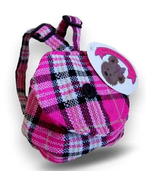 Pink Check Back Pack